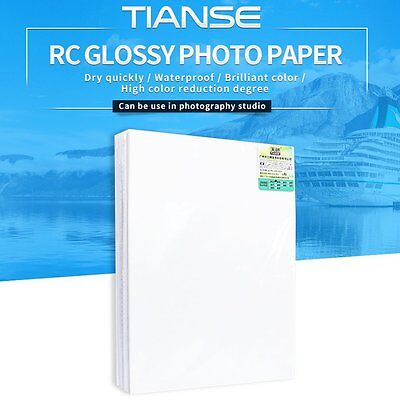 TIANSE High Glossy Photo Paper Color Inkjet Printing Photo Paper Waterproof PR