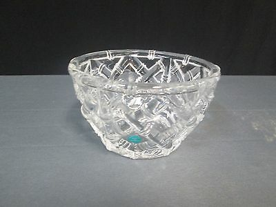 Tiffany & Co. Made In Germany Bamboo Crystal Bowl W Sticker No Box Collection