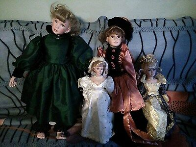A Collection of very rare and Old Porcelain Dolls