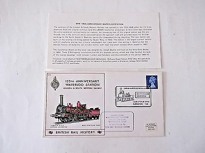 WATERLOO STATION 125th anniv. 11 July 1073, commemorative cover/insert