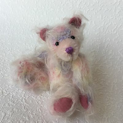 Ooak miniature Mohair Artist Bear by Theresa of Carisbrooke Bears