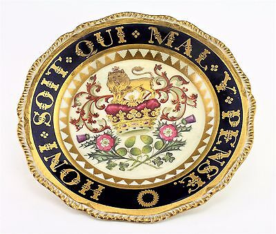 V Rare Worcester  Porcelain Royal Armorial Plate The Duke Of Clarence In 1812