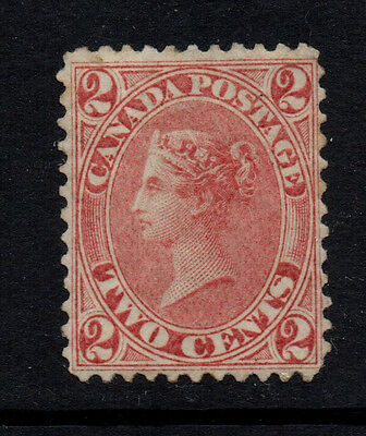 Canada (Colony of) 1864 2c Rose-Red QV - SG 244 - LMM