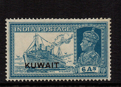 Kuwait 1939 6as Turquoise-Green KGVI of India Overprinted - SG 44 - VLMM