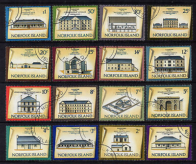 Norfolks 1973 Historic Buildings Definitives - set of 16 - SG 133/148 - FU