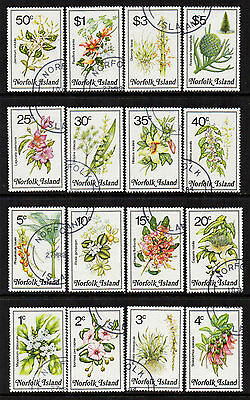 Norfolks 1984 Flowers Definitives - set of 16 - SG 318/333 - FU