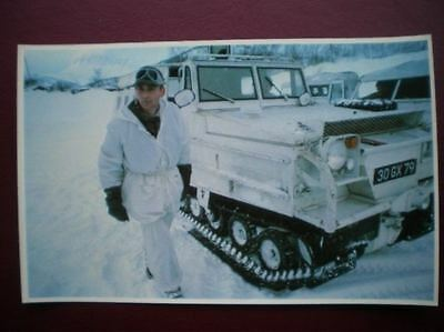 Falklands Task Force Postcard Rp Wwii  Sas Men With Their Snow Cats