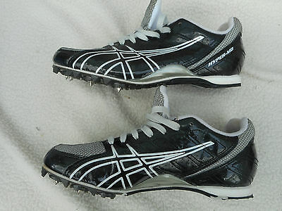 Asics Hyper -Md Middle Distance Running Spikes Black/silver True Fit Uk 5.5