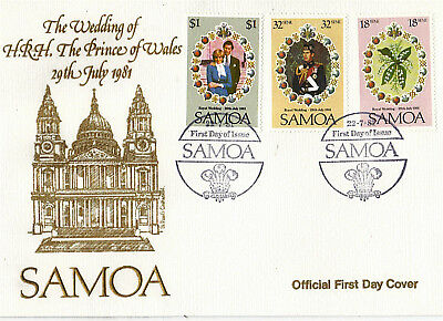 Samoa 1981 Royal Wedding Official First Day Cover