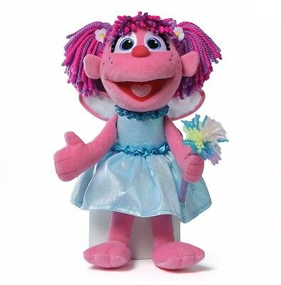 "Gund Sesame Street Everyday 12"" Plush ABBY CADABBY w Flower & Wings ~NEW~"