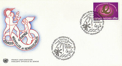 United Nations 1981 Sources Of Energy First Day Cover Vienna Shs