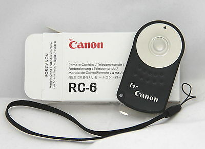 Wireless IR Remote Control for Canon EOS camera     RC-6 + free strap (infrared)