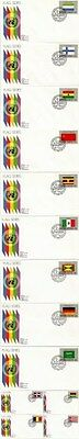 United Nations 1984 Flags Set Of All 16 First Day Covers New York Shs
