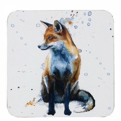 Sarah Stokes FOX  Set Of Four 4 Coasters A27615