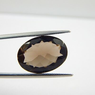 9.4 cts Natural Smoky Quartz Crystal Gemstone Healing Point Faceted R#250-2