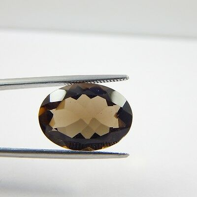 10.9 cts Natural Smoky Quartz Crystal Gemstone Healing Point Faceted R#250-12