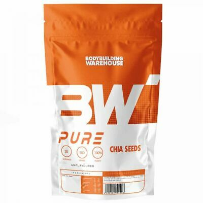 Pure Chia Seeds 500g Natural Weight Loss & Detox With Raw Whole Chia Free P&P