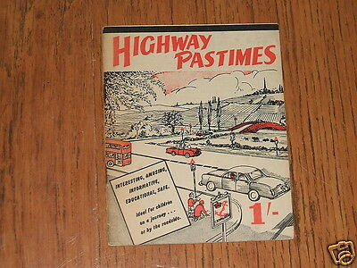 Highway Pastimes - c.1959 booklet;Austin,Ford,Sunbeam,race circuits,road signs..