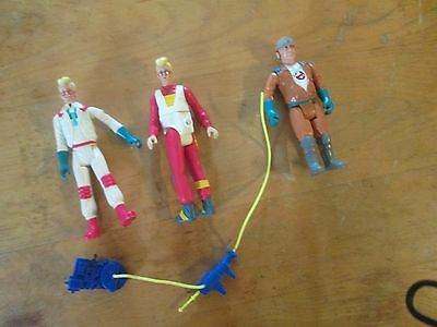 Vintage 1980s Kenner The Real Ghostbusters Egon x 2, Peter and 1 proton pack