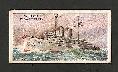 IMPERIAL JAPANESE NAVY Dreadnought Battleship SATSUMA 1910 original vintage card