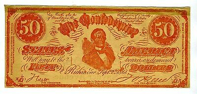 1914 Lucille Love Movie Promotional Flyer on a Confederate States $50  Bill
