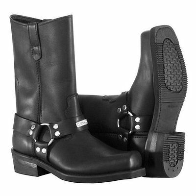River Road Traditional Harness Men's Motorcycle Boots
