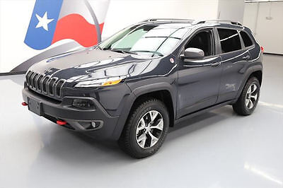 2017 Jeep Cherokee Trailhawk Sport Utility 4-Door 2017 JEEP CHEROKEE TRAILHAWK 4X4 HEATED SEATS NAV 2K MI #544263 Texas Direct