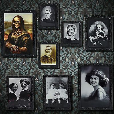 Gothic Halloween Horror Party Lenticular Morphing Photo Picture Frame Listing