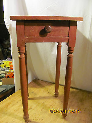 Sheraton One Drawer Stand in Original Red Paint