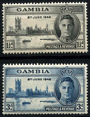 Gambia 1946 SG#162-3 Victory KGVI MH Set #D51933