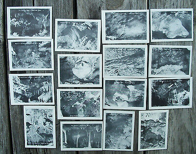 Lot of 16 Vintage NAMELESS CAVE PICTURES South Dakota Souvenir Photos in Sleeve
