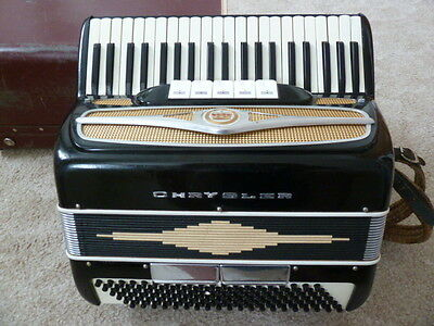 Piano Accordian by Chryslerof Italy 120 bass Rare Lovely Condition