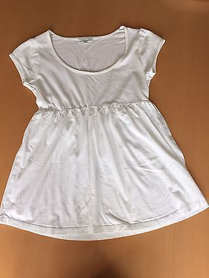 Jojo Mann Bebe White  Maternity Top T-shirt Smock Size Small 10-12