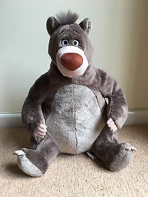 """Disney Store Exclusive Baloo Plush. Stamped. 15"""" Soft Toy. The Jungle Book"""