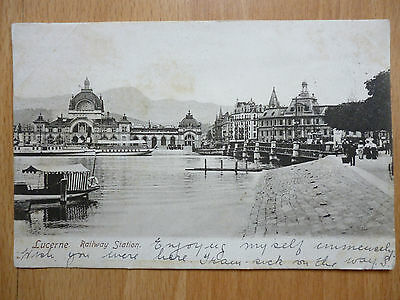 1904 Lucerne Railway Station Switzerland