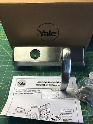 Yale 626F Exit Device Trim for 7000 2100 1800 1500 Series Brushed Chrome NO LOCK