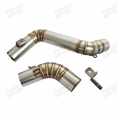 Stainless Steel Slip-On Exhaust Mid Pipe For KTM 125 200 390 Duke 2013 2014 2015