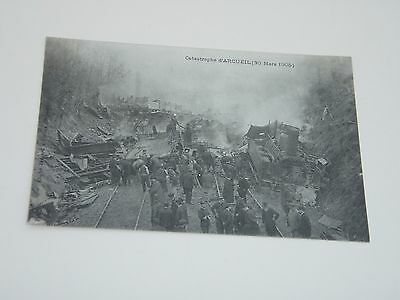 Rare French Rail Disaster 1905. Unused Postcard