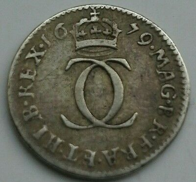 1679 CHARLES II SILVER TWOPENCE. (Ref:203)