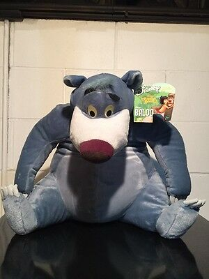"Jungle Book Baloo 2002 Bear Plush Animal 17"" Hasbro Disney SOFT HUGE"