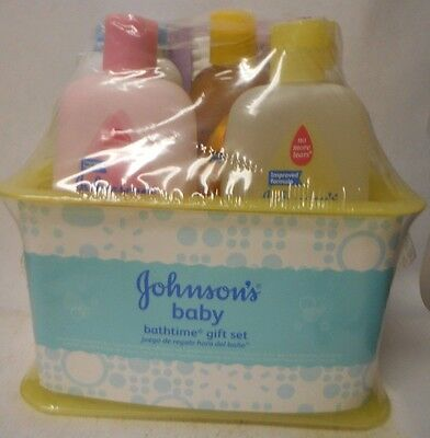 Johnson's Bathtime Gift Set For Parents-To-Be Caddy With Bath Essentials D16
