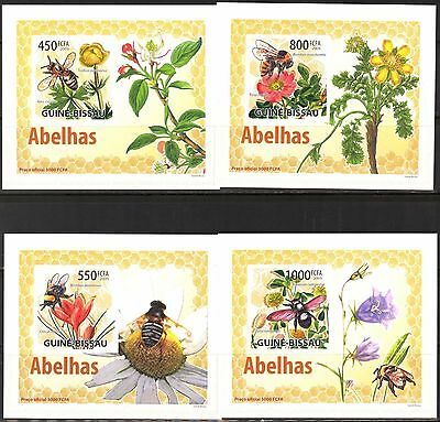 {B31} Guinea- Bissau 2009 Honey Bees 4 S/S DeLuxe MNH**