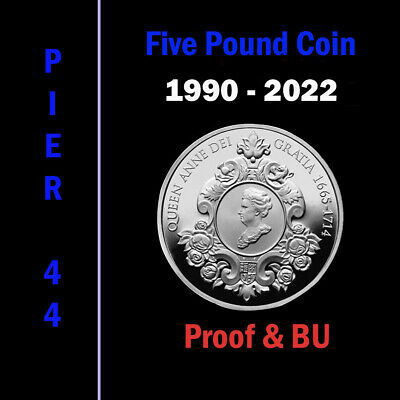 Proof & Brilliant Uncirculated £5 Five Pound Coins/Crown 1990-2018 - Choose Date