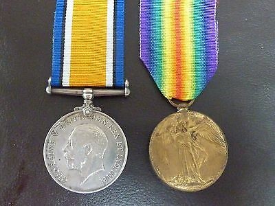 World War One Medal Pair - Captain H Crawford - Officer in British Army