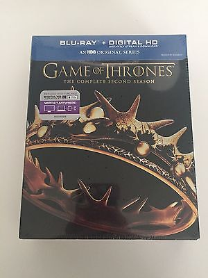 Game of Thrones The Complete Second Season 2 (Blu-ray Disc, 2016, 5-Disc Set)