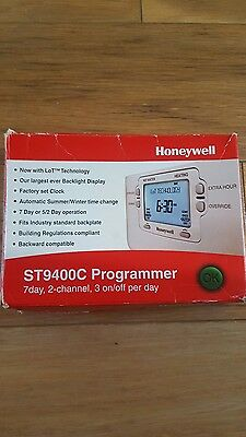Honeywell ST9400c Programmer Thermostat 7 Day, 2 Channel, 3 Day On/Off Per Day