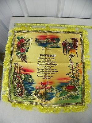 Iowa's Playground Lake Okoboji 18x18 Souvenir Fringe Pillow Cover Case        a2