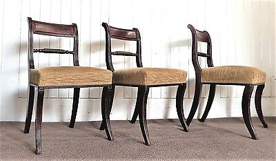 x3 antique regency occasional - dining chairs