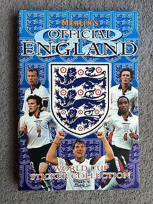 Merlin Official England 1998 World Cup Sticker Collection ( Mint Condition ) .