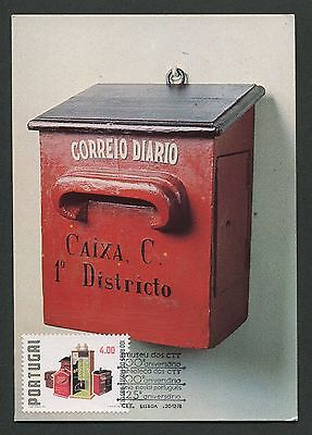 PORTUGAL MK 1978 POSTMUSEUM BRIEFKASTEN MAXIMUMKARTE MAXIMUM CARD MC CM d3230